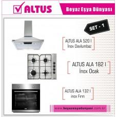 Ankastre - Altus İnox Ankastre Set 1 ( Ala 132 I Inox+Ala 182 I+Ala 520 I )