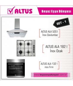 Altus İnox Ankastre Set 1 ( Ala 132 I Inox+Ala 182 I+Ala 520 I )