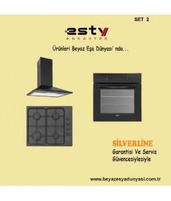 Esty Ankastre Set 2 (2240 Davlumbaz+AEO5330B01 Ocak+AEF6247B01 Fırın)