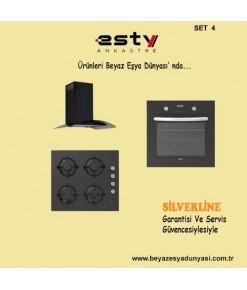 Esty Ankastre Set 4 (AEF6247 Fırın + ACO5335 Ocak + 3159 Davlumbaz )