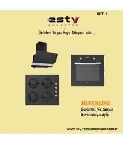 Esty Ankastre Set 5 (Davlumbaz 3420 + Ocak ACO5335 + Fırın AEF6272B01 )