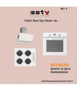 Esty Ankastre Set 6 (Davlumbaz 3420 +Ocak ACO5335WO1 + Fırın AEF6272W01 )