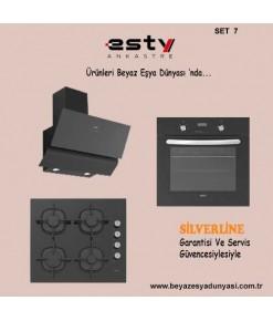 Esty Ankastre Set 7 ( 3447 Siyah Ocak + ACO 5335B01 Ocak + AEF6272B01 Fırın )