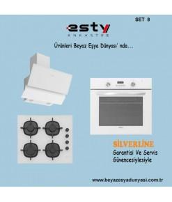 Esty Ankastre Set 8 ( 3447 Siyah Ocak + ACO 5335W01 Ocak + AEF6272BW01 Fırın )