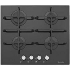 Ankastre Grubu - Silverline CS 5234 60 cm Gazlı Siyah Cam Ankastre Ocak