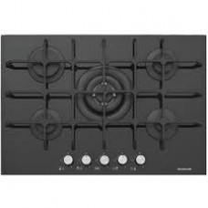 Ankastre Grubu - Silverline CS 5236 75 cm Gazlı Siyah Cam Ankastre Ocak