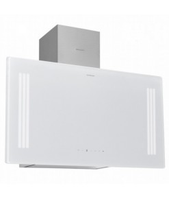 Silverline Mırror Beyaz 60 cm Dekoratif Camlı Duvar Tipi Davlumbaz