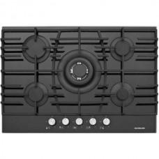 Ankastre Grubu - Silverline CS 5223 75 cm Gazlı Siyah Cam Ankastre Ocak