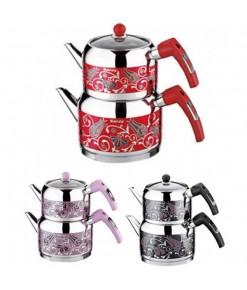 Saray Gözde Dekorlu Mini Çaydanlık